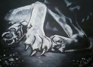 Schilderdingen ontspannen wolf
